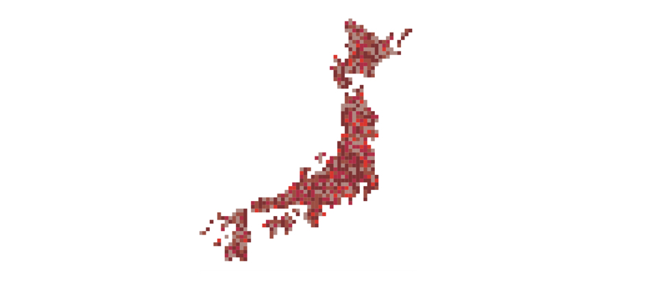 Digital Japan map